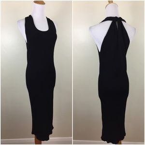 HELMUT LANG Fitted Ribbed Knit Stretchy Dress